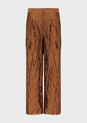 Emporio Armani Iridescent Crinkled Trousers