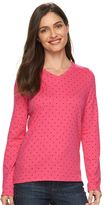 Croft & Barrow Women's Classic Polka-Dot Tee