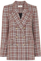 Etoile Isabel Marant Ianey Checked Linen Blazer - Red