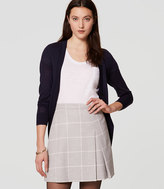 LOFT Windowpane Pleated Skirt