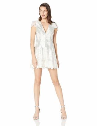 Dress the Population Women's Sabrina Sequin Lace Romper