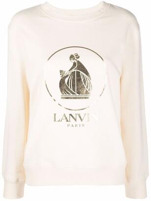 Lanvin Logo Crew-Neck Sweatshirt