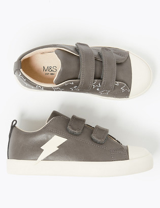 Marks and Spencer Kids' Lightning Bolt Riptape Trainers (5 Small - 12 Small)