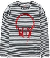 Name It Graphic stripe print organic cotton T-shirt