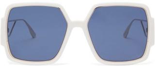 Christian Dior 30montaigne2 Square Acetate Sunglasses - Ivory