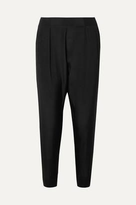 ATM Anthony Thomas Melillo Silk Crepe De Chine Track Pants - Black