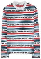 Balenciaga Top stretch rayé