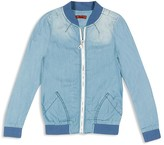 7 For All Mankind Girls' Denim Look Bomber Jacket - Sizes S-XL