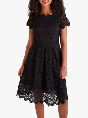 Yumi Floral Lace Dress, Black
