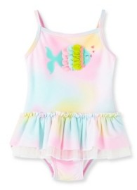 Little Me Baby Girls Fish Swimsuit
