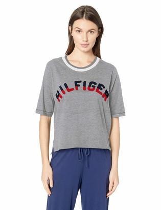 Tommy Hilfiger Women's Cotton Pullover Top Shirt Logo Lounge Sleep Pj