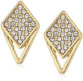 Laundry by Shelli Segal Pave Triangle Clip On Earrings