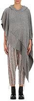 Greg Lauren Women's Cashmere Hooded Asymmetric Top