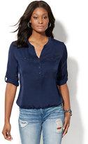 New York & Co. Soho Soft Shirt - Bubble Hem