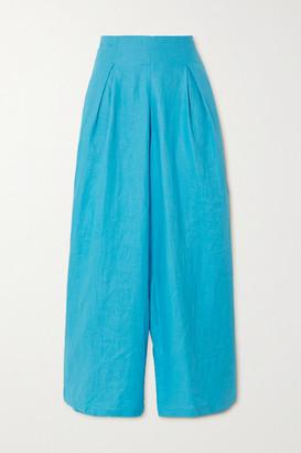 Faithfull The Brand Meridian Linen Wide-leg Pants - Azure