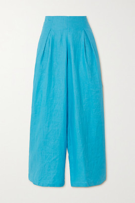 Faithfull The Brand + Net Sustain Meridian Linen Wide-leg Pants - Azure