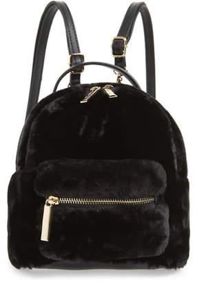 Mali & Lili Gemini Faux Fur & Vegan Leather Convertible Backpack