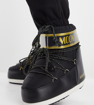 Moon Boot Exclusive classic low snowboots in black and gold