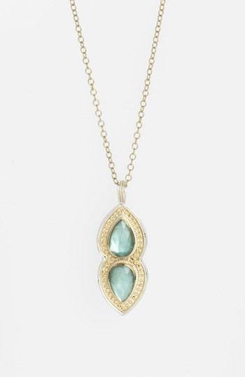 Anna Beck 'Gili' Double Teardrop Pendant Necklace