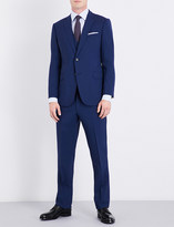 Armani Collezioni Three-piece tailored-fit stretch-wool suit