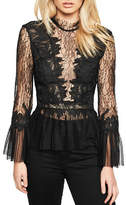 Bardot Sheer Lace Blouse