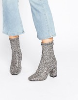 Boohoo Glitter Heeled Ankle Boot