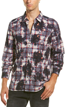 John Varvatos Gingham Overdyed Woven Shirt