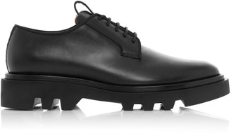 Givenchy Combat Lug-Sole Leather Lace-Up Shoes