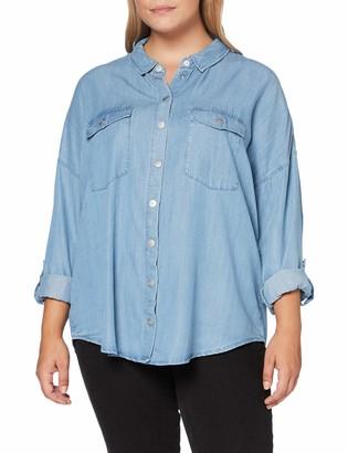 ONLY Carmakoma Women's CARUSH Life LS Oversize Shirt
