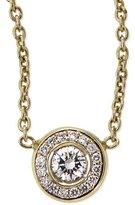 Roberto Coin 18k Yellow Gold Pave Diamond Pendant Necklace