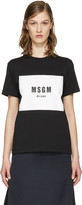 MSGM Black Colorblock Logo T-shirt