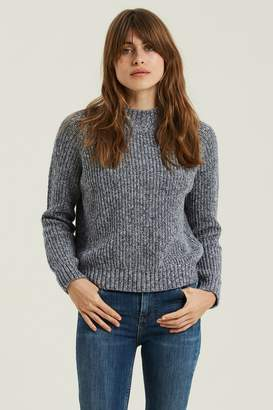 Fat Face Womens FatFace Blue Poppy Ribbed Jumper - Blue