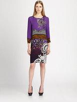 Etro Paisley-Print Silk-Blend Dress