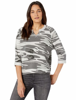 Alternative Women's Champ Remix Printed eco-Fleece Sweatshirt
