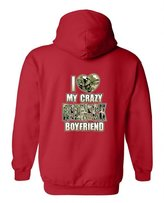 "Impress For Less USA Unisex Pullover Hoodie Funny Cute ""I Love My Crazy NECK Boyfriend"" (XL)"