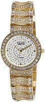 Burgi Women's BUR060YG Analog Display Japanese Quartz Gold Watch