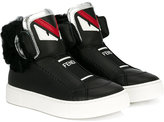 Fendi monster logo hi-tops