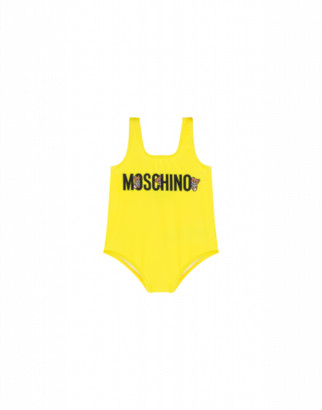 Moschino Teddy Logo One-piece Swimsuit Unisex Yellow Size 2a