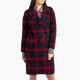 Frnch Selyna Long Checked Coat