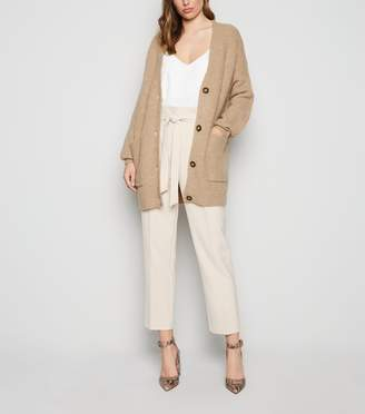 New Look Long Sleeve Button Up Knitted Cardigan