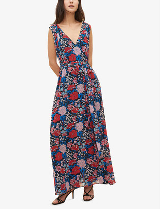 Claudie Pierlot Floral-print recycled-polyester maxi dress