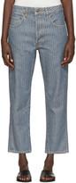 6397 Indigo Herringbone Shorty Jeans