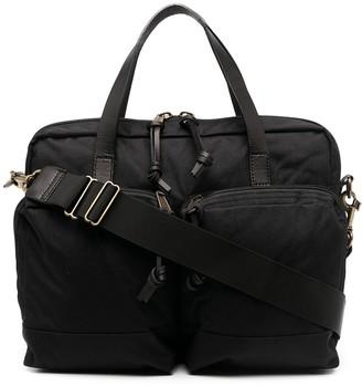 Filson Dryden logo patch briefcase
