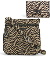 Vera Bradley Zebra Petite Trifold Wallet & Double-Zip Hipster Crossbody Bag