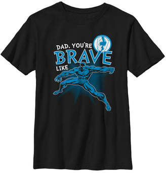 Fifth Sun Marvel Big Boy Black Panther Brave Dad Father Day Short Sleeve T-Shirt