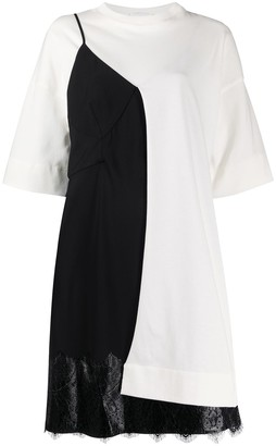 Litkovskaya Colour Block Lace-Panel Dress