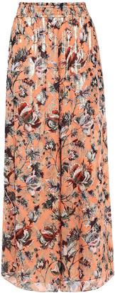 Diane von Furstenberg Birdie Metallic Floral-print Fil Coupe Silk-blend Wide-leg Pants
