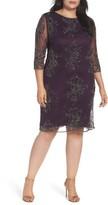 Pisarro Nights Plus Size Women's Embellished Tulle Dress
