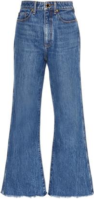KHAITE Gabbie Rigid High-Rise Flared Jeans