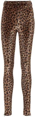 ATTICO Leopard-print stretch-velvet pants